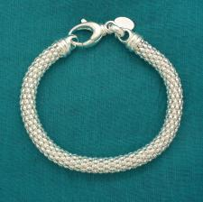 Bracciale argento maglia Pop Corn lineare 6,5mm.