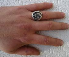 Anello argento carpa koi japanese tattoo art