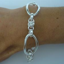 Sterling silver fancy bracelet 18mm.