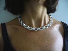 Handmade 925 silver necklace made in Italy