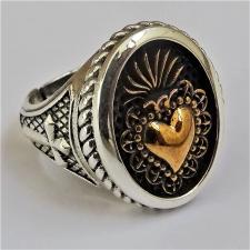 Anello donna cuore sacro argento