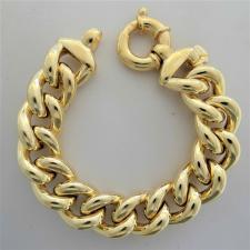 Bracciale grumetta argento dorato