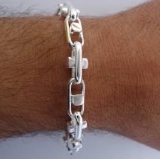 Men's handmade solid 925 silver bracelet.