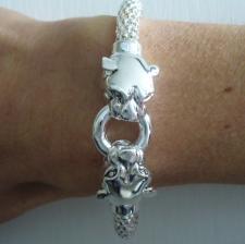 Silver pop corn bracelet