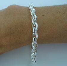 Solid 925 silver square link bracelet.