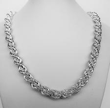 Sterling silver rope necklace 10mm