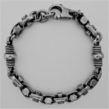 Men's bracelet in oxidized silver