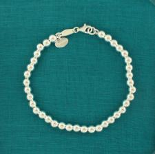 Sterling silver bead bracelet for woman - 5mm