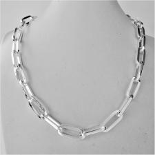 Sterling silver rectangular link necklace 8,5mm. Lenght 45 cm.