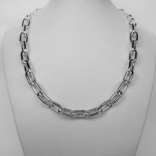 Sterling silver women's links necklace
