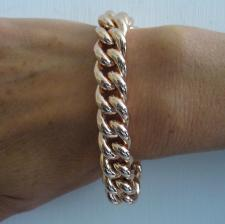 Sterling silver rose gold plated bracelet