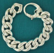 Sterling silver curb bracelet Italy