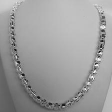 Handmade solid sterling silver necklace, 7,3mm. 135 grams.