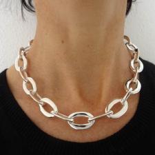 Collana artigianale in argento prodotta in Italia