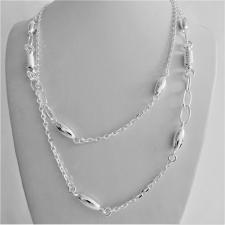 Sterling silver necklace. Anchor chain, spirals, oval link. Length: 100 cm.
