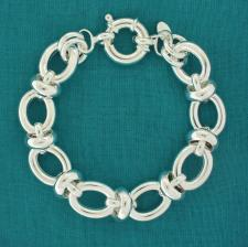 Handmade silver bracelet made in Italy