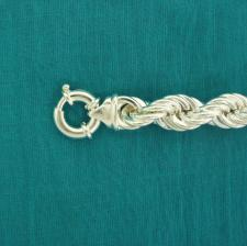 Sterling silver rope bracelet 12mm