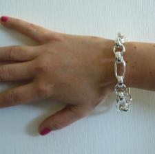 Bracciale argento fantasia rolo - Bracciale donna con catena rolo in argento 925
