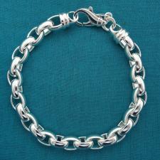 Bracciale argento massiccio maglia ovale