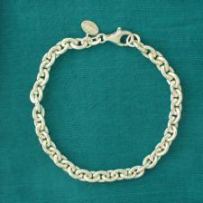 Sterling silver oval link bracelet 6mm