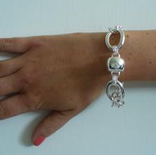 Gioielli argento bracciale barilotto - Catena in argento 925