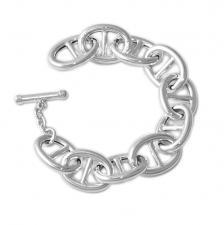 Mariner bracelet in sterling silver T-bar closure