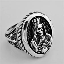 Anello donna in argento 925. Santa Muerte Mexico.