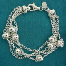 Women's solid sterling silver bracelet