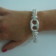 925 silver maglia marina link bracelet