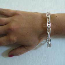 Anchor chain bracelet in sterling silver