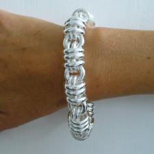 Handmade 925 Italy silver bracelet. Round link 16mm.