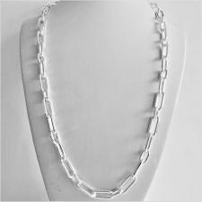 Collana uomo in argento 925 MASSICCIO, maglia allungata alternata 2+1, larghezza 7mm. Lunghezza 6...