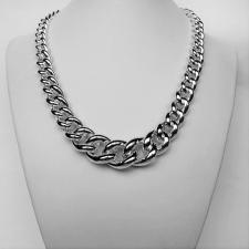 Collana in argento 925 maglia grumetta scalare - Collana donna argento grumetta.