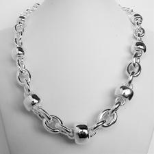 Sterling silver graduated balls necklace