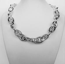 Collana in argento 925 maglia traversino 15mm - Collana donna.