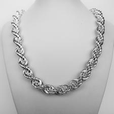 Rope necklace in sterling silver