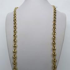 Collana argento maglia marina dorata