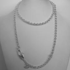 Sterling silver men's round link necklace