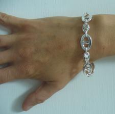 Italy made sterling silver mariner bracelet
