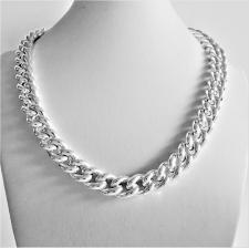 Sterling silver hollow curb necklace 12mm.