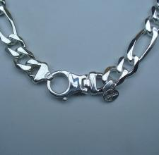 Silver figaro necklace