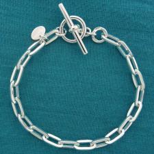 Bracciale argento 925 MASSICCIO, maglia allungata 4,8mm, filo sezione quadrata piccola. CHIUSURA ...