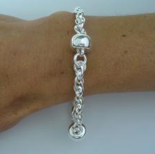 Solid silver italian fancy bracelet
