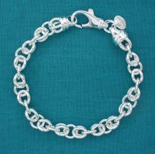 Bracciale maglia cestina argento