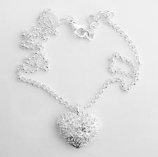 Collana argento pendente cuore