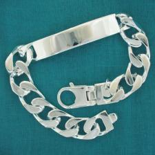 Men's id bracelet in sterling silver