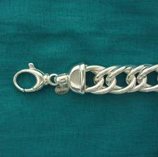 Curb bracelet in sterling silver