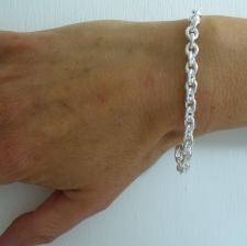 Gioielli in argento made in Italy - Bracciale argento forzatina ovale