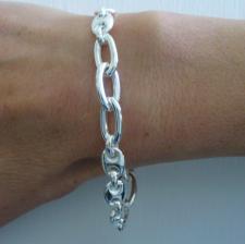 Bracciale fantasia con maglia marina in argento 925 - Bracciale donna