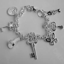Bracciale chiavi in argento.